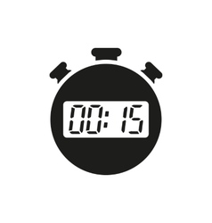 The 15 seconds minutes stopwatch icon Clock and vector