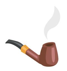 tobacco smoking pipe cartoon vector image