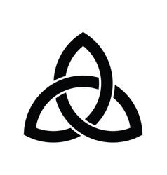 Triquetra sign icon leaf-like celtic symbol vector