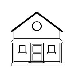 Two story house icon image vector