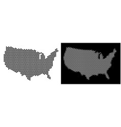 Usa map hexagon scheme vector