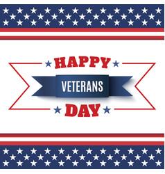 Veterans day background vector