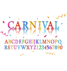 Vintage carnival font vector