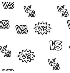 Vs abbreviation versus seamless pattern vector