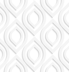 White vertical pointy ovals vector