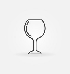 wine glass simple icon vector image