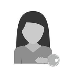 Woman account vector