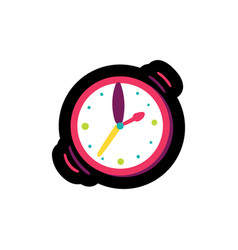 Wristwatch flat color vector