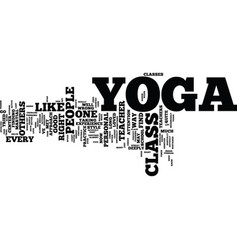 Yoga class text background word cloud concept vector