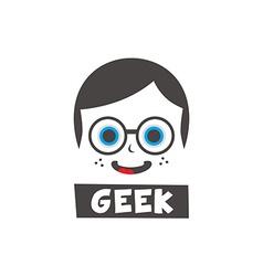 young geek cartoon vector image
