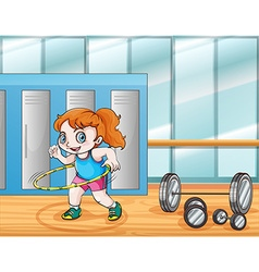 Young girl working out vector
