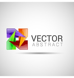 abstract logo beaded branding business clear color vector image vector image