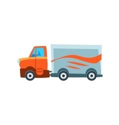 Long-Distance Cargo Truck Toy Cute Car Icon vector image vector image