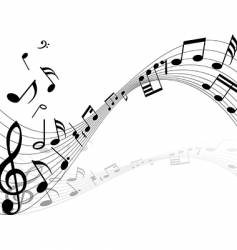musical notes backgrounds vector image vector image