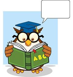 Owl teacher cartoon vector image