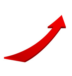 red moving up arrow vector image vector image
