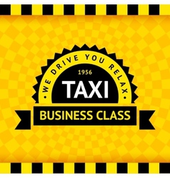 Taxi symbol with checkered background - 07 vector image vector image