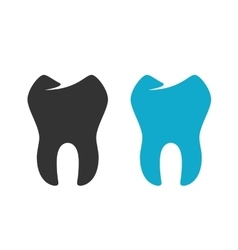 Tooth Icon logo on white background vector image