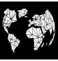 Abstract globe earth in polygonal style vector image vector image