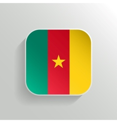 Button - Cameroon Flag Icon vector image vector image