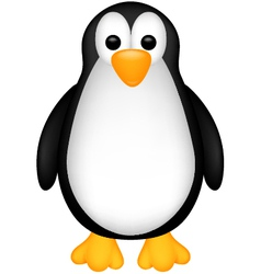 funny penguin cartoob vector image vector image