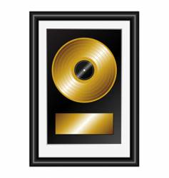 golden record vector image vector image