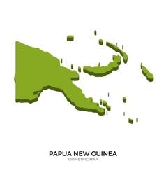 Isometric map of papua new guinea detailed vector