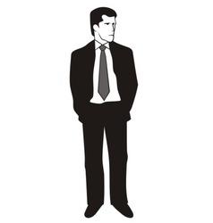 Man suit vector