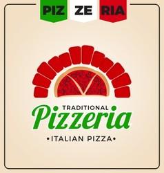 Pizzeria logo template design vector image