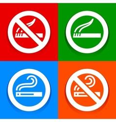 Stickers multicolored - No smoking area symbol vector image