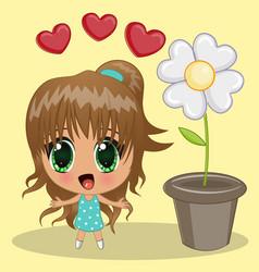 anime girl vector image vector image
