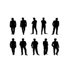 black people silhouettes vector image