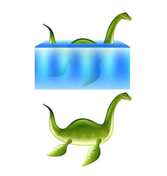 nessie loch ness monster isolated vector image vector image