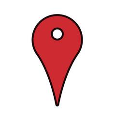 pointer map navigation gps guide app vector image