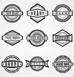 Retro Brand Labels vector image vector image