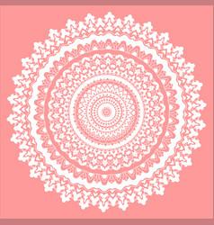 pink and white mandala vector image