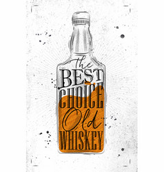 poster whiskey best choice paper vector image vector image