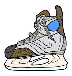 Sketch of hockey skates Skates to play hockey on vector image