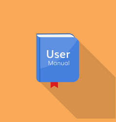 user guide manual icon vector image