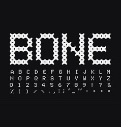 abstract bone letters and numbers set vector image