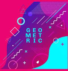 abstract colorful geometric shapes and forms vector image
