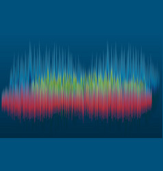 Abstract graphics - sound waves spectrum vector