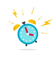 Alarm ringing icon flat vector