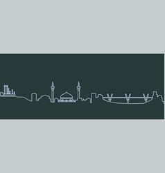 Amman single line skyline vector