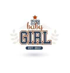 Baby Girl Shower vector