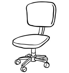 Black and white computer chair vector