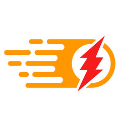 bright electric spark with fast speed effect vector image