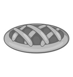 Cake icon black monochrome style vector