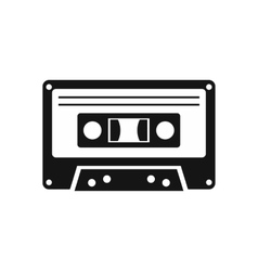 Cassette tape icon simple style vector