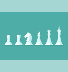 chess piece icons set vector image
